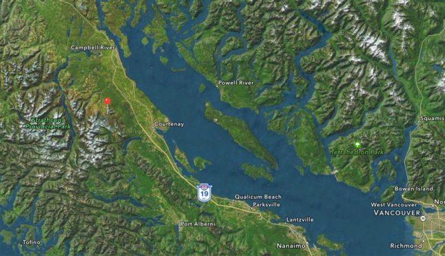 Karte zu Mount Washington Alpine Resort auf Vancouver Island