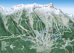 Karte von Fernie