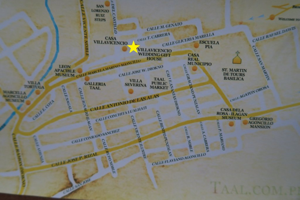 Taal Heritage Town Map