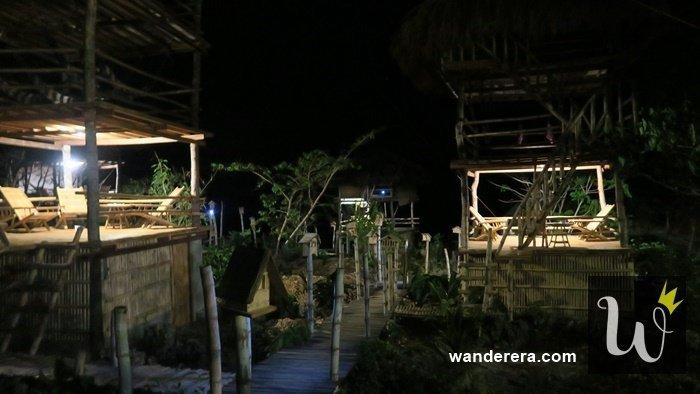 Birdland Beach Club at Night