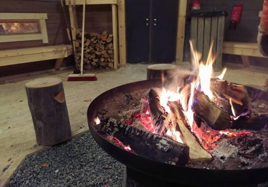 Log Fires, Ruka, Finland