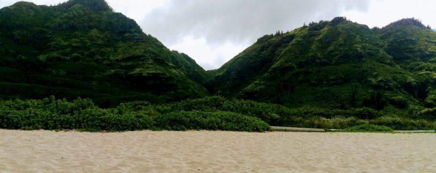 Sandy beach, Hawaii