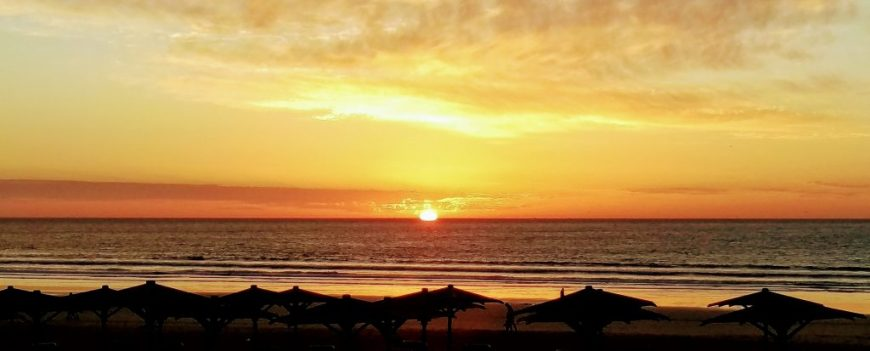 Sunset at Agadir beach, Agadir, Morocco