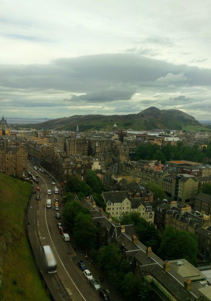 Views of Edinburgh from Edinburgh Castle, Scotland