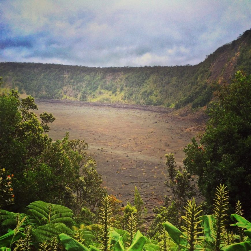 Volcanic crater, Hawaii