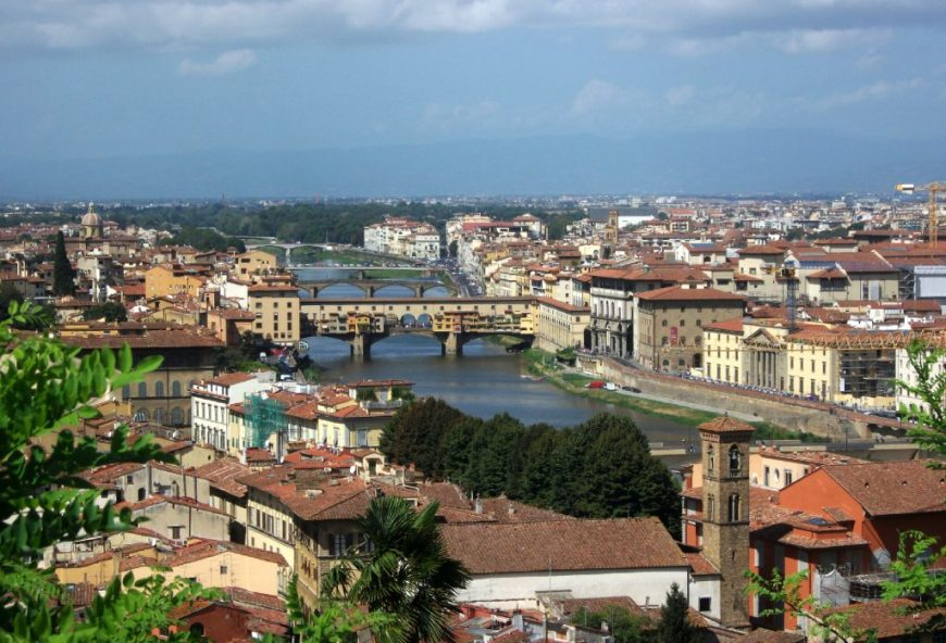 Budget Things To Do in Italy: View the Florence skyline from above at Piazzale Michelangelo