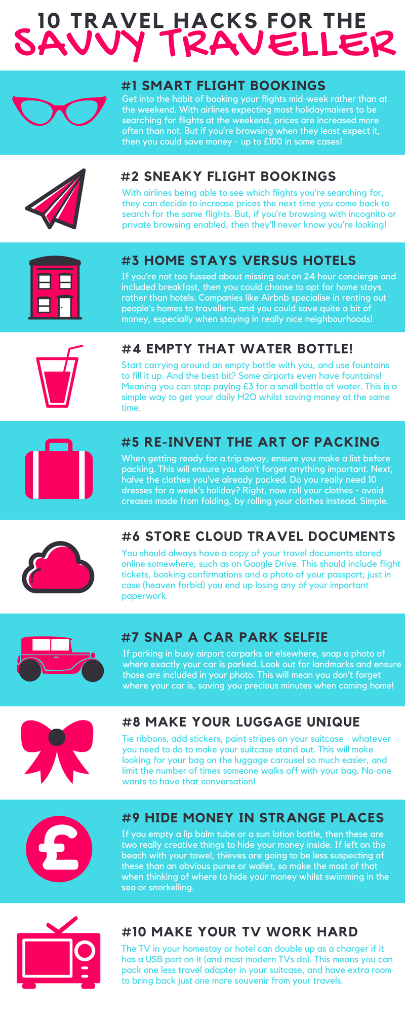 10 Travel Hacks for the Savvy Traveller