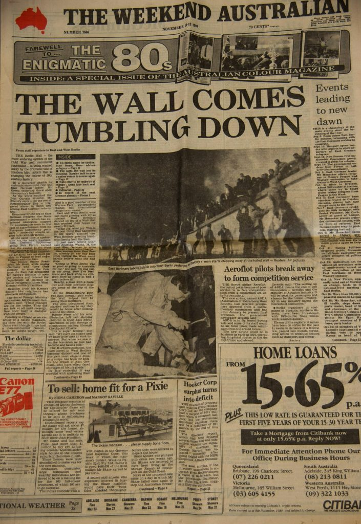 Berlin Wall Newspaper