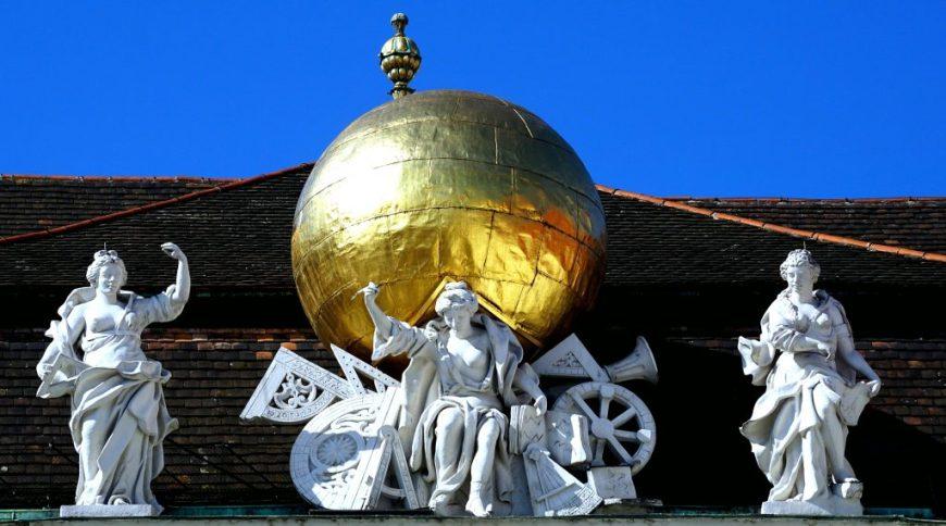 Gold Hofburg Palace Vienna