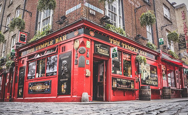 Why is The Temple Bar in Dublin famous?