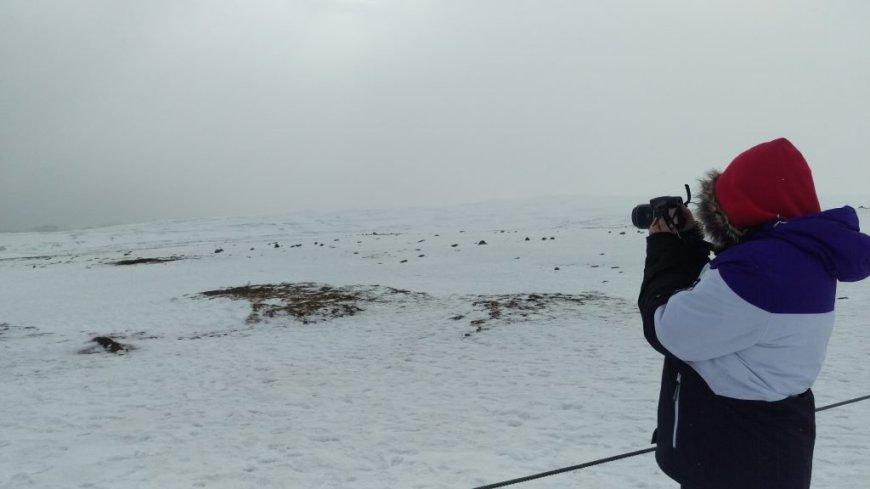 Winter blizzard in Iceland