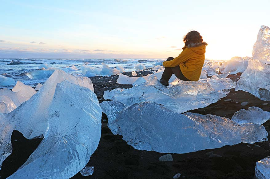 Diamond Beach in Iceland - Full Suitcase family travel blog