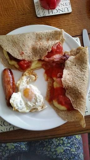 Staffordshire Oatcakes Breakfast
