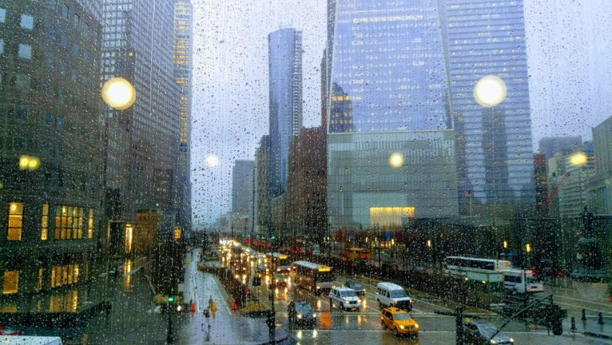 New York in the rain