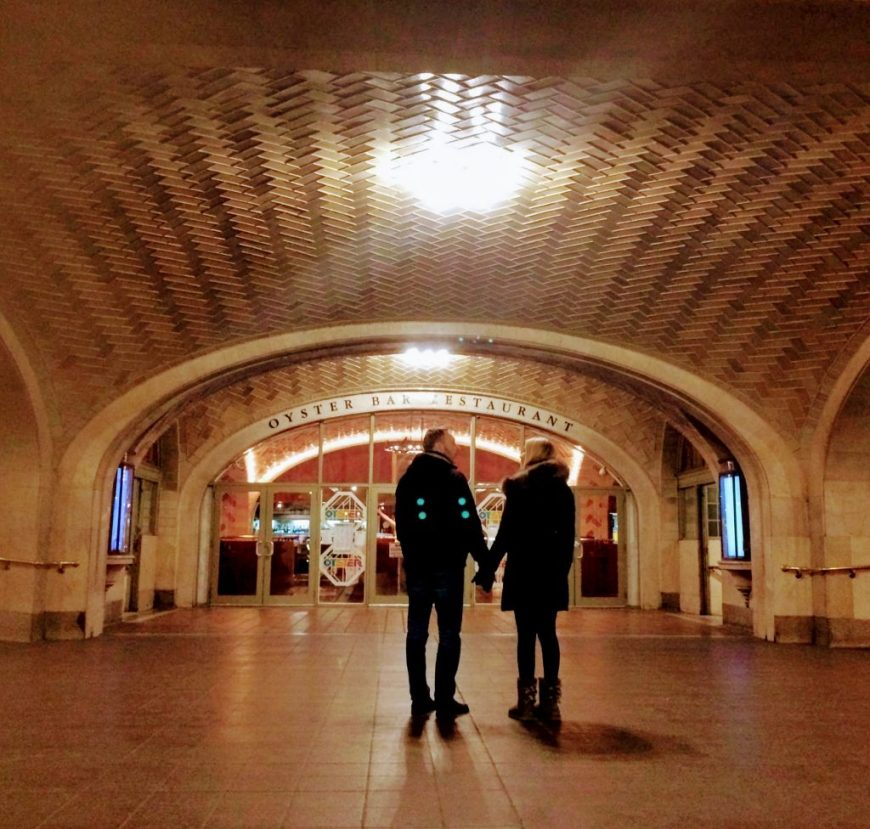 A couple prepare to whisper their sweet nothings to one another via The Whispering Gallery