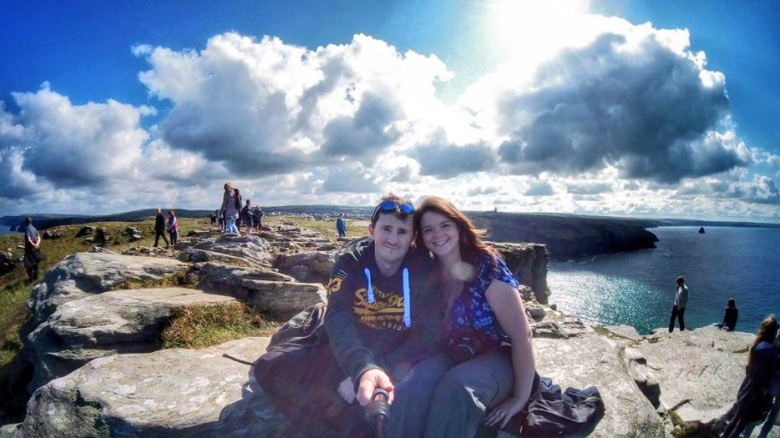 Justine & Scott in Tintagel, Cornwall