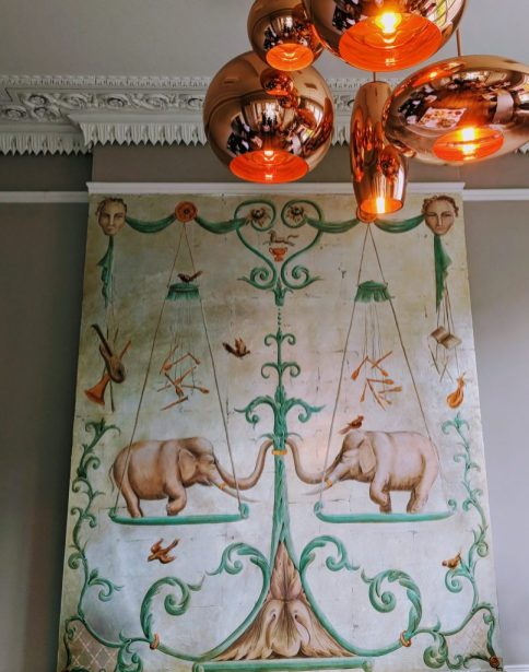 Elephants Mural at Cotswold Grange Hotel, Cheltenham