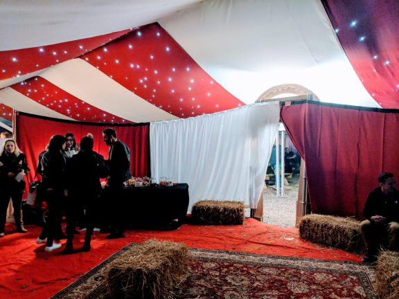 VIP tent at Fear, Avon Valley