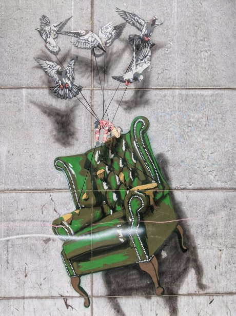 Brussels Street Art - Camouflage Chair