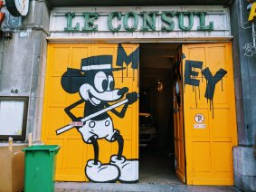 Brussels Street Art - Mickey Mouse