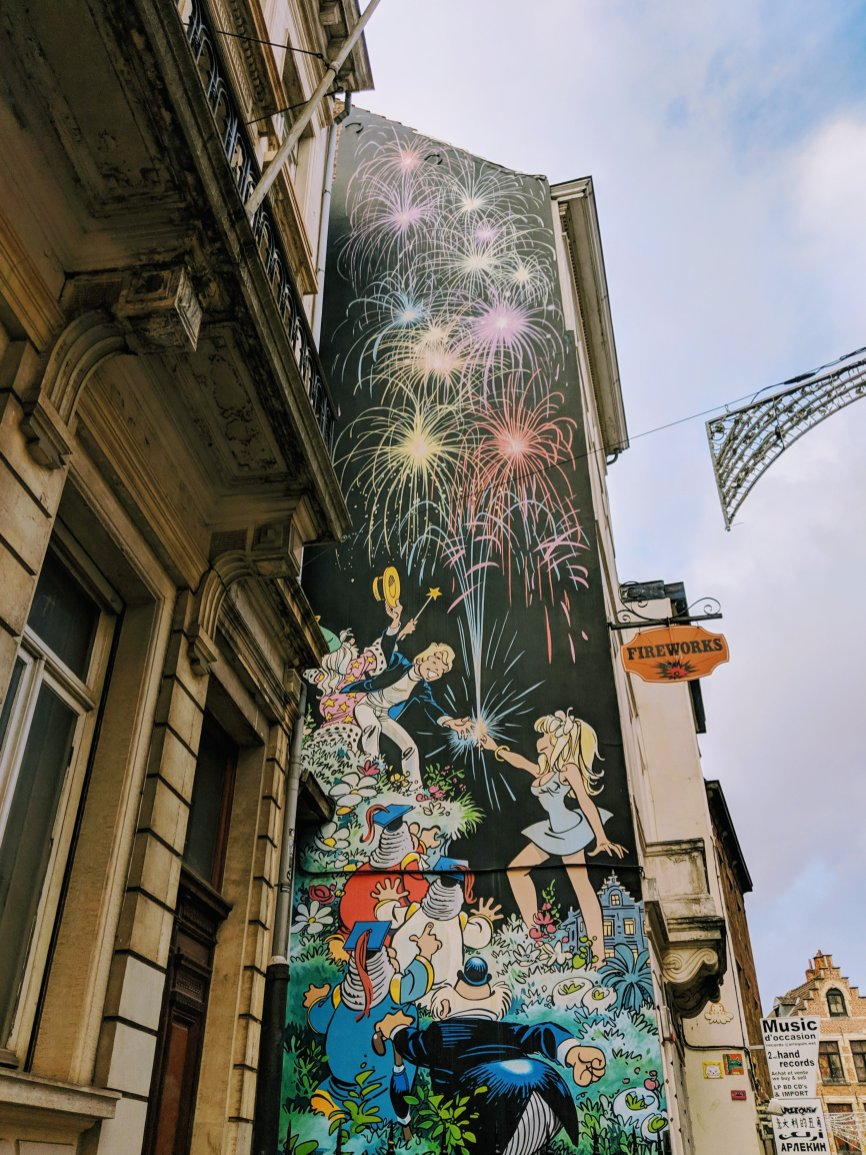 Brussels Comic Strip Mural: Olivier Rameau