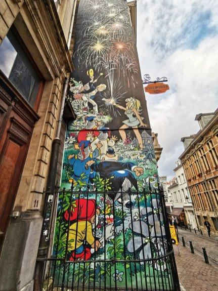 Brussels Comic Strip Mural: Olivier Rameau