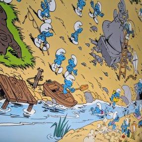 Brussels Comic Strip Mural: Smurfs