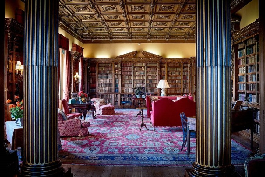 Highclere Castle Interior - The Library