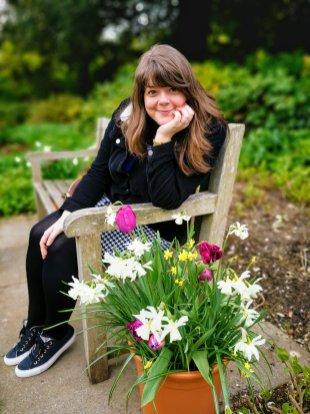 Justine in The Secret Garden at Highclere Castle