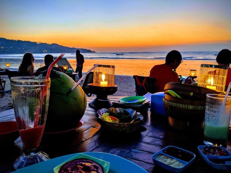 Candlelit dinner on Jimbaran beach