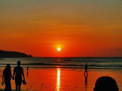 Jimbaran beach sunset dinner