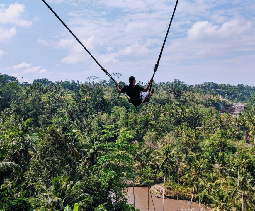 Scott on the Bali swing