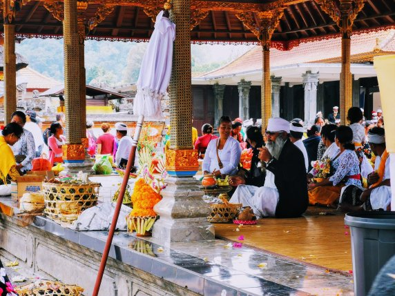 Worshipping in Bali