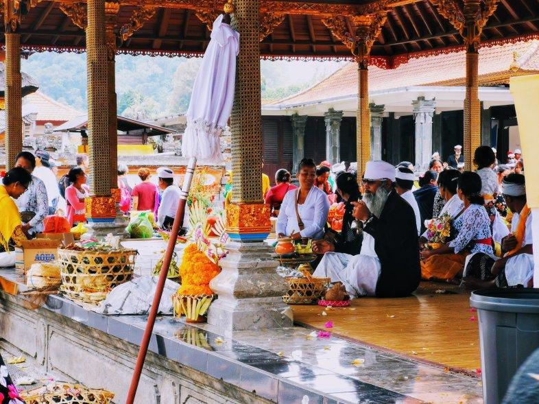Worshipping in Bali