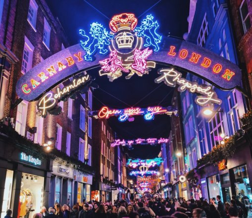 Carnaby Street London at Christmas