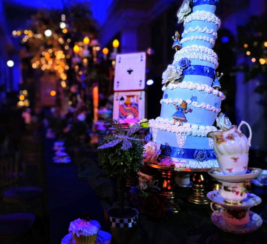 A close up of cake at the Mad Hatter's tea party at Blenheim Palace