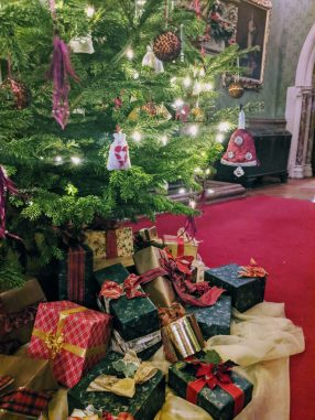 Christmas Presents Under the Tree at Tyntesfield