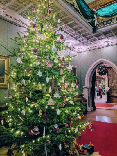 Victorian Christmas Tree in the Main Foyer at Tyntesfield