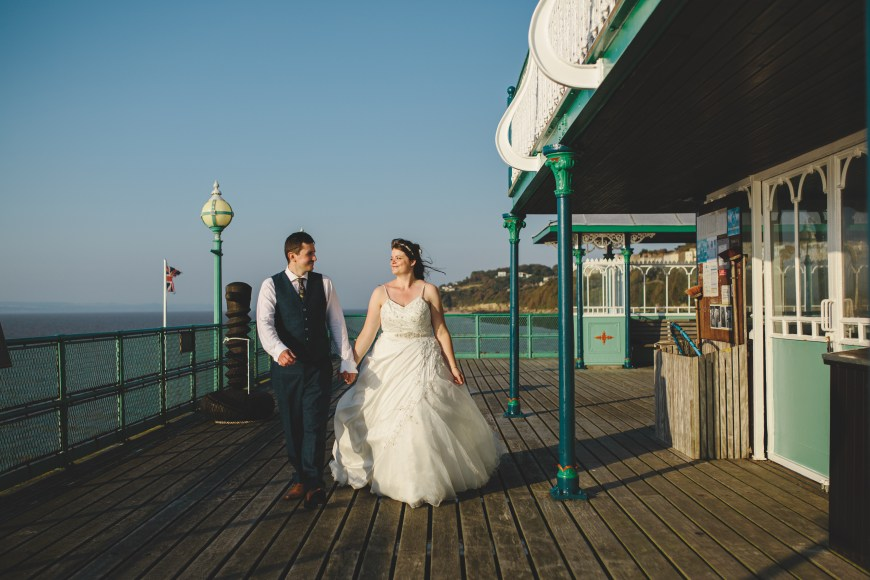 Justine & Scott in Clevedon