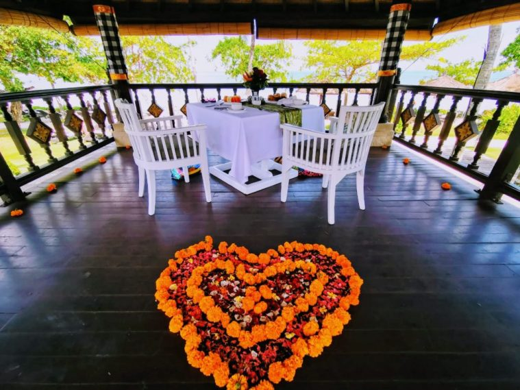 Romantic breakfast package at Intercontinental Bali Resort