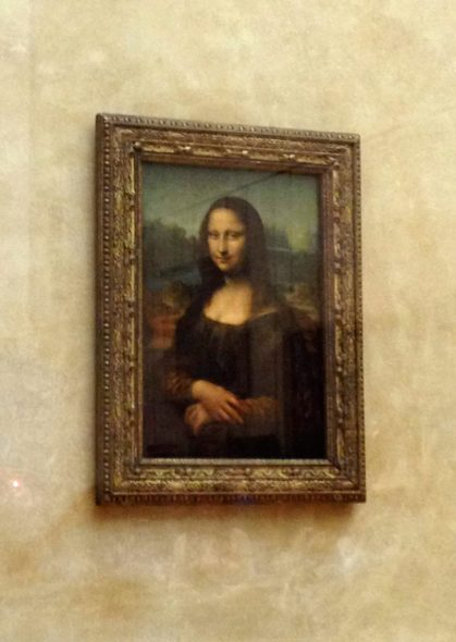 Mona Lisa painting in the Louvre, Paris