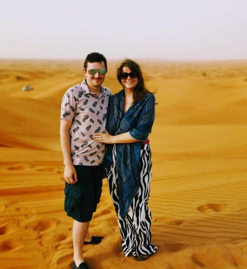 Scott and Justine in the Arabian Desert