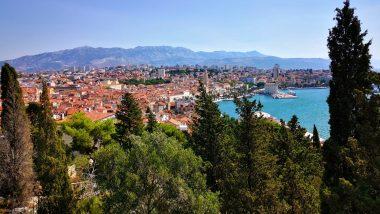 Views of Split from Marjan Park in Croatia