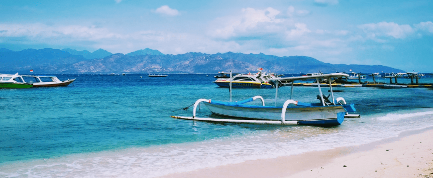 Boats on the water at Gili Trawangan