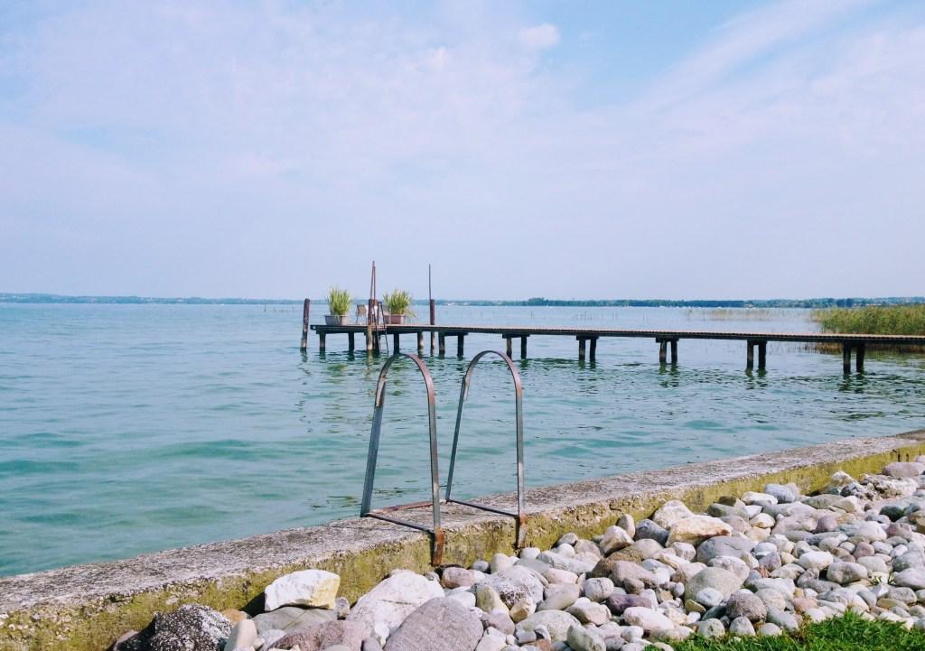 Swimming in Lake Garda, Italy