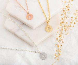 Compass Necklace Bridesmaid Gift