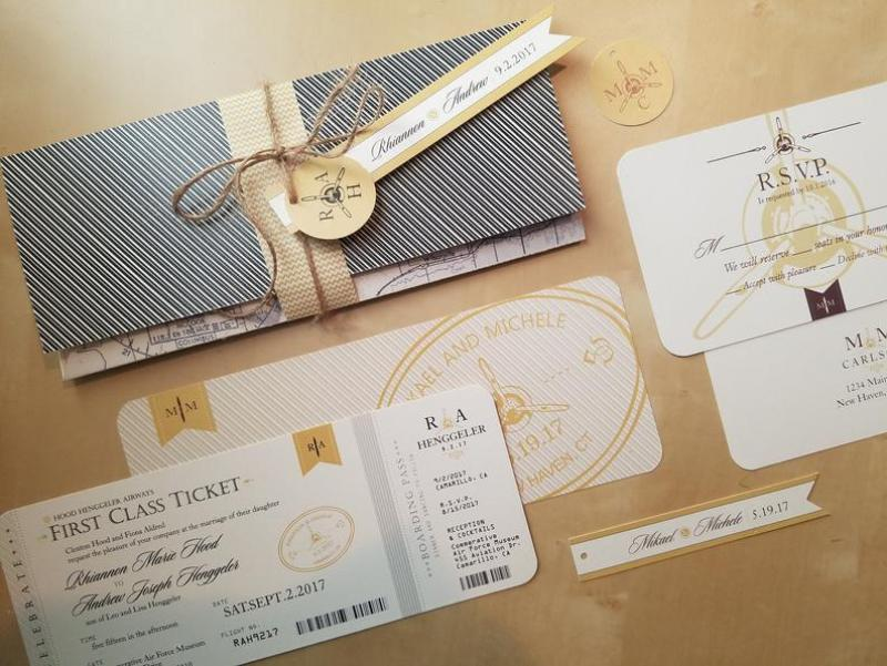 DIY Boarding Pass Wedding Invitations