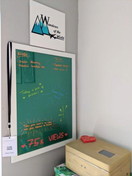 My DIY dry erase board