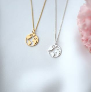 Globe Necklace Bridesmaid Gift