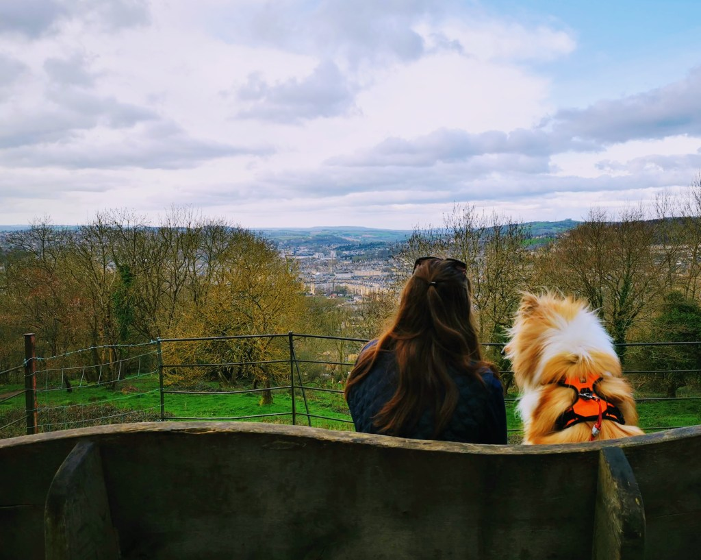 Justine and Kai admiring the Bath Skyline views